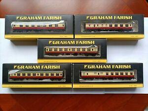 Graham Farish Coaches - N Gauge -near mint x 5