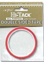 Hi-Tack Double Sided Glue Sticky Crystal Clear Permenant Adhesive Tape 3mm x 5m