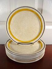 "Vintage Set of 8 Brendan Erin Stone 7¼"" Salad Plates Arklow Ireland"