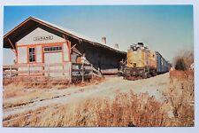 Postcard CHIPPEWA RIVER RAILROAD LOCOMOTIVE #988, ALCO RSC-2, AT DURAND STATION