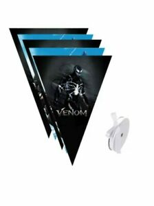 Venom Banner Bunting Flags 10pcs Party Decorations