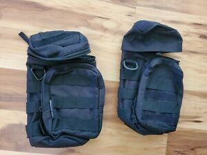 2 Tactical Molle Water Bottle Pouch Bag Kettle Holder Carrier Camping Hiking