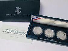 1994 US Veterans 3 Coin Proof Silver Dollar Commemorative Set