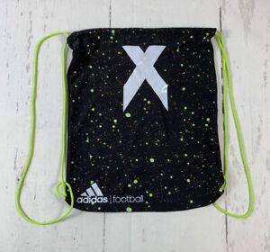 Adidas Football Drawstring Shoe Bag X Black Green