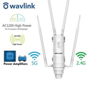 Wavlink Dual-Band AC1200 High Power Outdoor WiFi Range Extender PoE High Gain