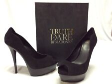 Truth Or Dare By Madonna Besaw Women's Shoes, Black, Size 9.5 Eur 40.5 Uk 7.5