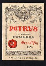 POMEROL 1ER GCC VIEILLE ETIQUETTE CHATEAU PETRUS 1955 73 CL  §18/11/16§