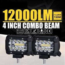 """2x 4""""inch 480W Phare de Travail Barre à LED Feux Projecteur Offroad 4x4 JEEP 12V"""