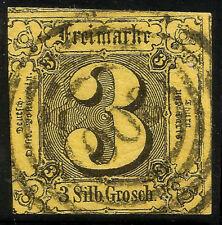 THURN UND TAXIS, 3 SILBERGROSCHEN, 1852, MICHEL # 6a, RING CANCELLATION # 300