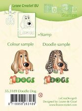 Leane Creatief - DOG Clear Cling Rubber DOODLE  Stamp 55.3189