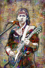Mark Knopfler of DIRE STRAITS Tribute Poster, Pop Art 12x18inch Free Shipping