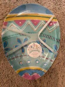 Bunny Boulevard Oval Egg Bunny Rabbit Plates Set Of 4 Melamine Plates Easter