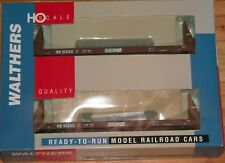 WALTHERS 932-25782 50' SIECO PULPWOOD FLAT CAR 2-PK NORFOLK SOUTHERN NS