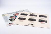 2 Vintage Nikon Camera Store Advertising Display Sign Counter Mats V19