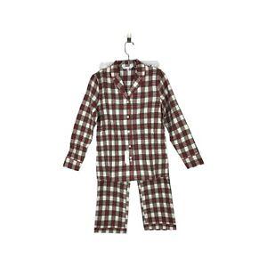 BROOKS BROTHERS Set Of Pajama Size XSmall Long Sleeves & Pants Plaid Multicolor