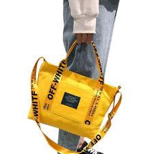 Off white  borsa Giallo Spalla Tote Messenger Bag Casual Ragazza da viaggio