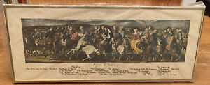 "Framed ""Pilgrims to Canterbury"" Reproduction Mid Victorian Chaucer, Stothard"