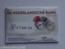 Netherlands Het Nederlandse Bank Vijfje 5 euro 2014 Fdc Coincard First Day Issue