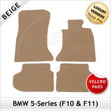 BMW 5-Series F10 Saloon 2010-2017 Velcro Tailored LUXURY 1300g Carpet Mats BEIGE