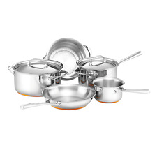 Essteele Per Vita 5 Piece Cookware Set Silver Induction Stainless Steel With Lid