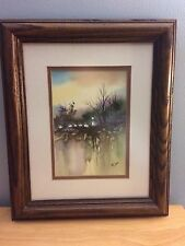 Toni Dane Framed Watercolor Painting Signed by Artist