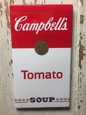 """Campbell's Soup Sign Burner Cover 20"""" x 11"""""""