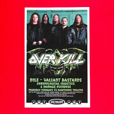 Overkill 2017 Original 11x17 Concert Promo Street Poster. Portland, Oregon.