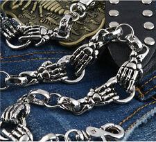 Close Skeleton Hands Gothic Jeans Wallet Key Chain CS03
