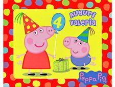 CIALDA per compleanno PEPPA PIG Party ostia formato A4 piatti bicchieri tovaglia