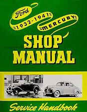 Ford Mercury Car and Pickup Truck Repair Shop Manual 1937 1938 1939 1940 1941