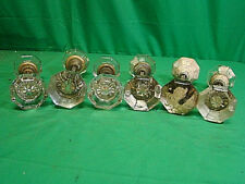 LOT OF 6 SETS (12 KNOBS) OVERSIZED GLASS CRYSTAL ANTIQUE ART DECO DOOR KNOB SETS