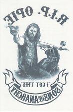 "SONS OF ANARCHY Tattoo R.I.P.D. 4""x6"" Original TV Promo Item SDCC Comic Con 2013"