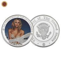WR USA Präsident Trump Münze Supermodel Ivanka Trump Versilberte Münze Medaille