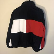Tommy Hilfiger Big Flag Jacket Reversible 90s Mens Sz L...