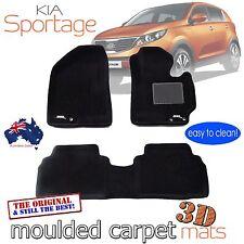 To suit KIA Sportage 2010 - 2015 Black Carpet 3D Floor Mats