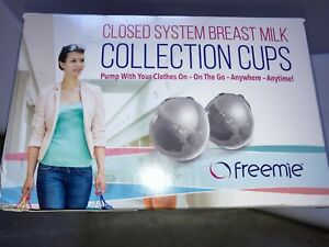 New Sealed Set of 2 Closed System Freemie collection cups hands free nursing