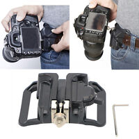 Clip Loading Fast Holster Mount Hanger Waist Belt Buckle Holder for Camera DSLR