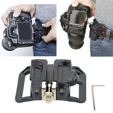 Hot Quick Release Camera Holster Waist Belt Buckle Button Mount Clip DSLR Camera