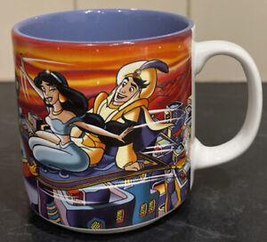 Authentic Disney Aladdin Princess Jasmine Ceramic Mug 2002 Rare Collectable