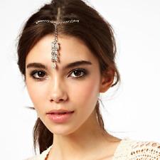 Crystal Leafs Head Chain Forehead Pendant Jewelry Headband Head Piece Hair band