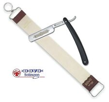 Straight Shaving Razor and Leather Strop 18""