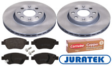 For Fiat - Grande Punto 2006-2011 Front Brake Discs and Pads Juratek + Grease