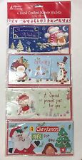 Christmas 4 Hand Crafted Money Wallets Envelopes Ideal for Cash or Voucher Gift