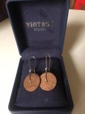 Antique Coin Earrings - Dutch East Indies - Double duit 1790 - Short