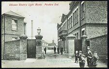 1907 Ediswan Works Ponders End Enfield Text Written By An Employee Postcard B49