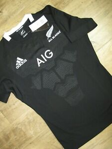Adidas New Zealand All Blacks AIG Home Performance Rugby Jersey CW3130 ~ Sz XL