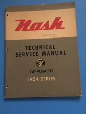 1954 Nash Technical Service Repair Manual Supplement Rambler Ambassador  OEM