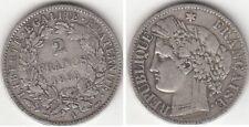 Monnaie Française 2 francs argent Cérès 1895 A