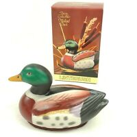 Ceramic Mallard Duck Decoy Lint Remover Brush Figurine Jasco Vintage NEW