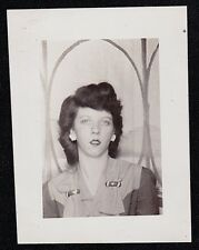 Antique Vintage Photograph Pretty Woman Wearing Earrings